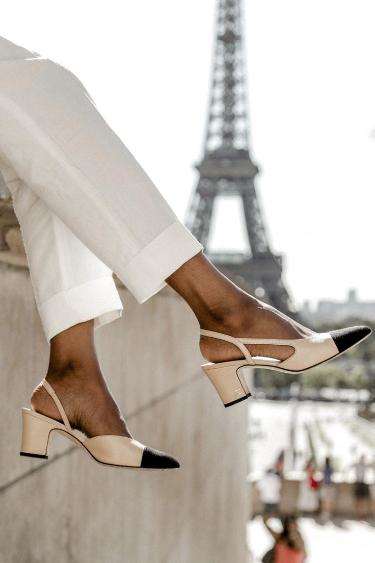 Classic Chanel slingbacks. Chanel sling