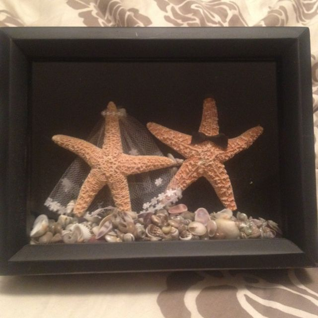 Beach Themed Shadow Box Ideas: What To Do With Your Home Made Wedding Cake Topper After