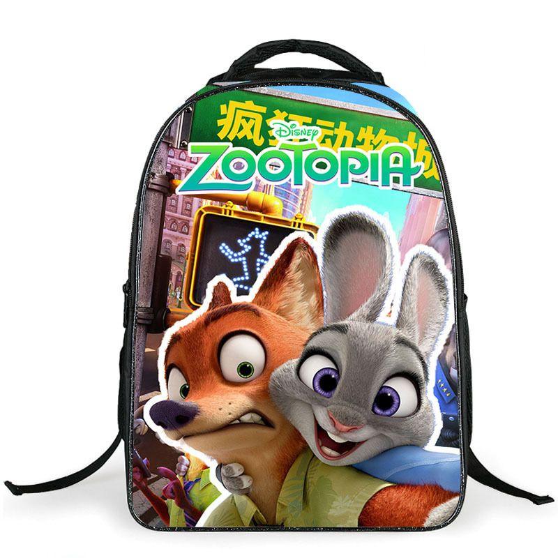 36366c20d102 Zootopia Children School bags Cute 3D Cartoon Backpack Schoolbag for Boys  Casual Kids School Book Bag