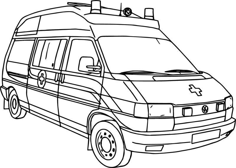 Picture Of Ambulance Coloring Page Seni Gambar Seni Menggambar