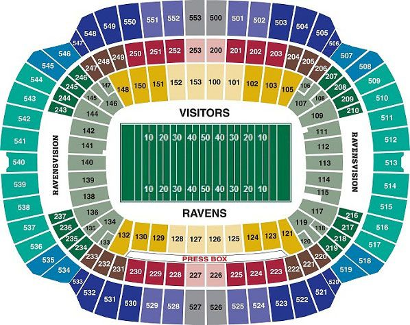 Seating Chart Baltimore Ravens Miami Dolphins Tickets Ravens Tickets