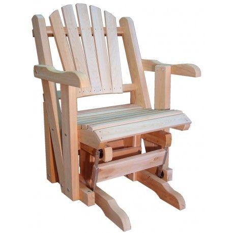 Rocking Chair Canadien Adirondack De Jardin Une Place Sur Roulements Rocking Chair Mobilier Jardin Chaise Bercante