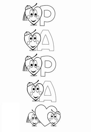 Coloriage pour papa dessin de papa anniversaire f te des papas f te des p res coloriage - Dessin pour anniversaire ...