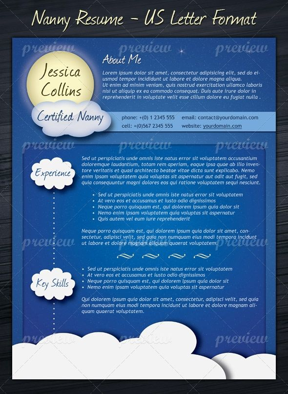 Nanny Resume Template Template and Psd templates - nanny resume templates free