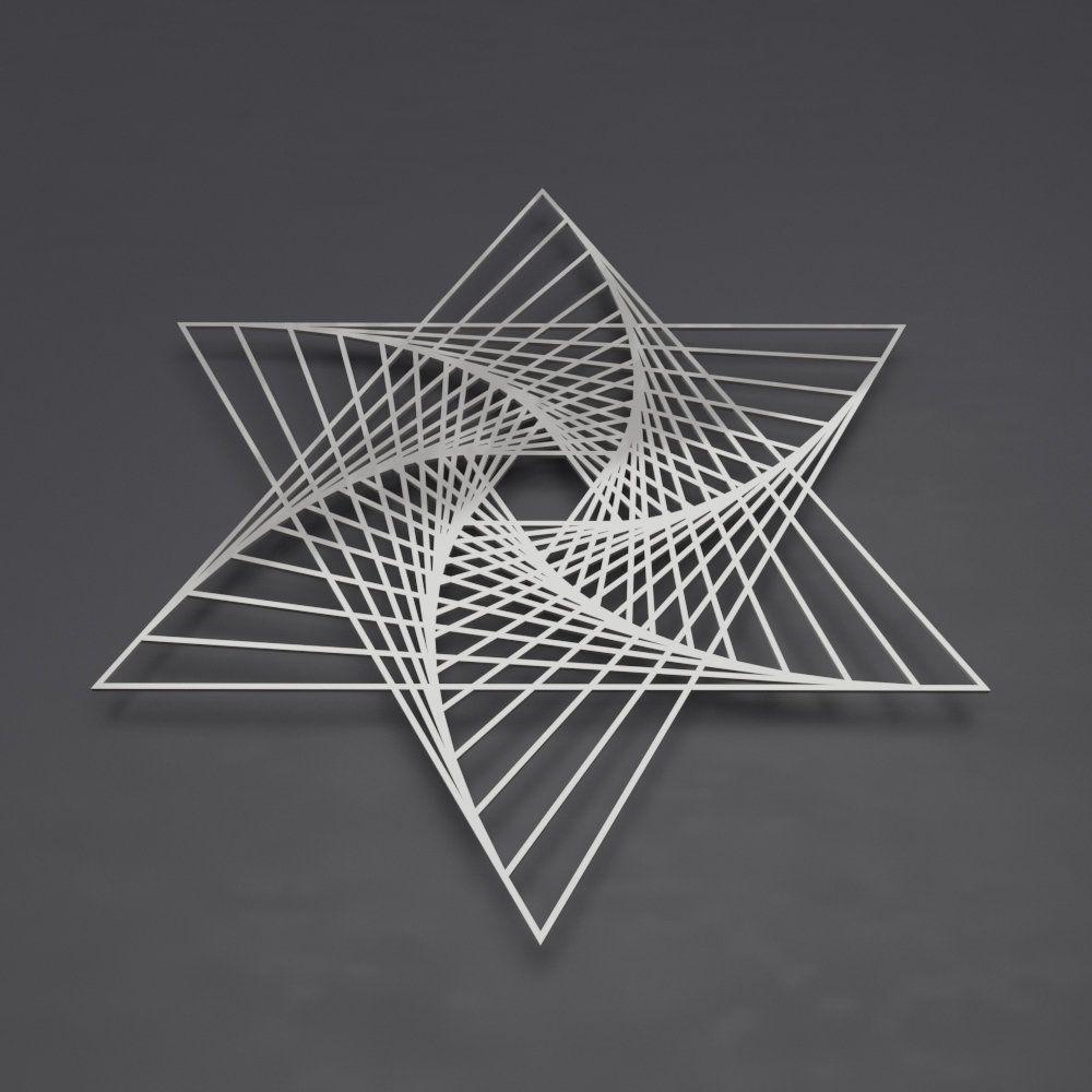 Merkaba Sacred Geometry Metal Wall Art Abstract Metal Wall Etsy In 2020 3d Metal Wall Art Geometry Art Metal Sculpture Wall Art