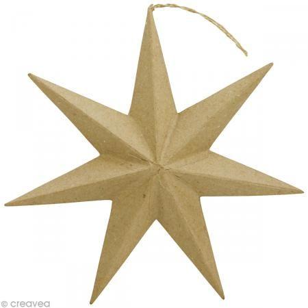 Estrella Para Suspender De Papel Mache 30 Cm Sobres De Papel