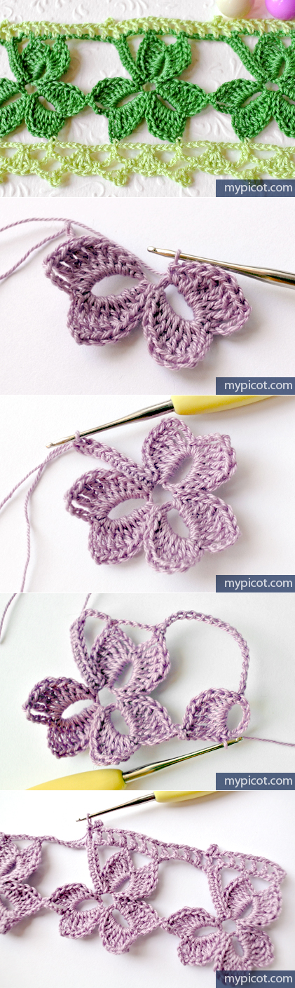 MyPicot | patrones de ganchillo gratis | Flor | Pinterest | Patrón ...