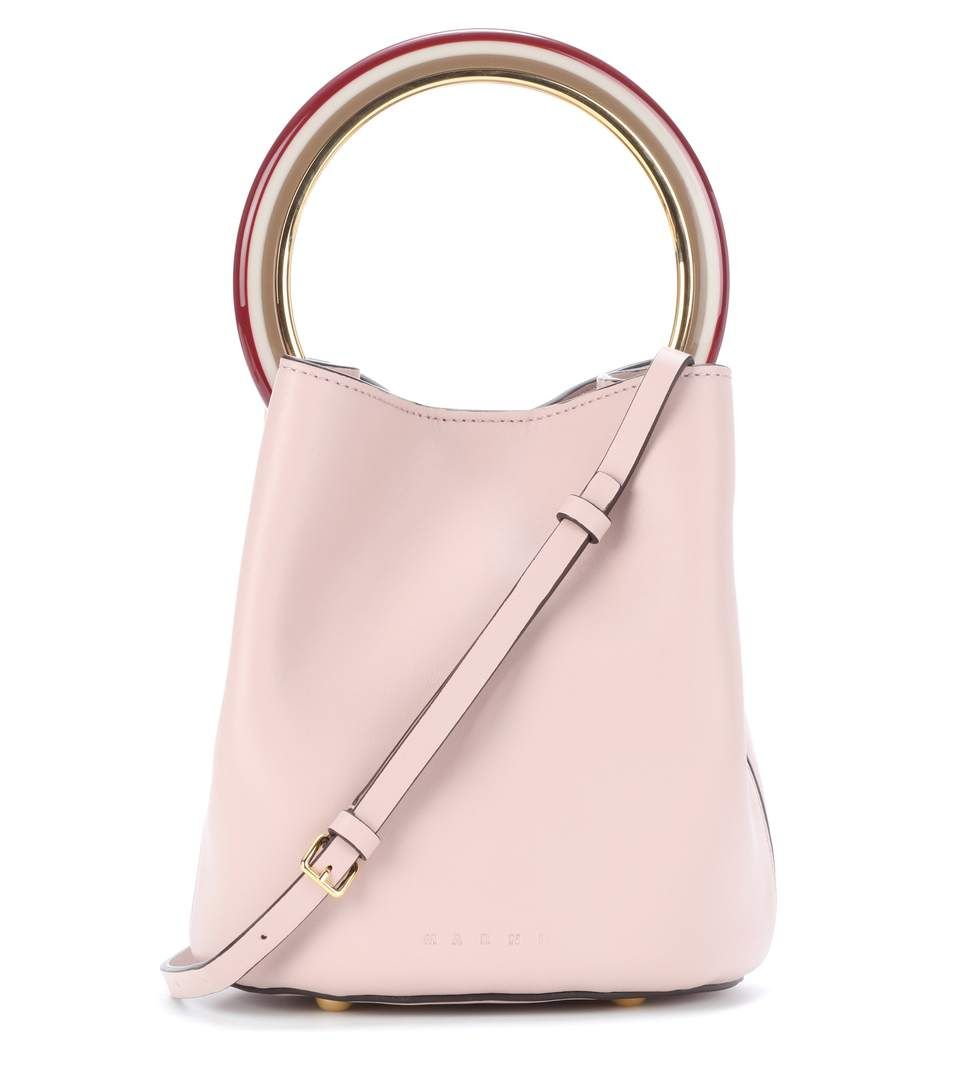 Pannier Leather Tote - Pink Marni Free Shipping Websites Cheap Wholesale Price Really Cheap Cheap Sale Manchester Great Sale Outlet Official Site FX0AGq