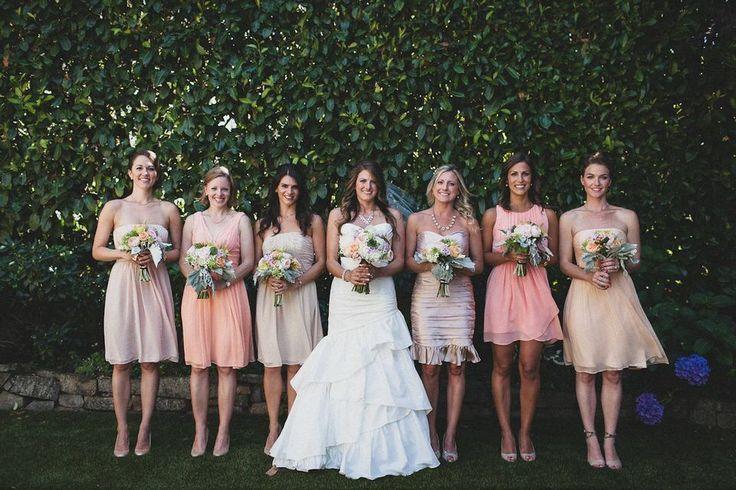 Beige Bridesmaid Dresses
