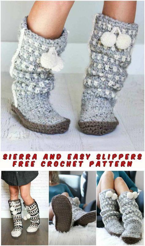 Sierra Easy Slippers Crochet Pattern Free Pinterest Crochet