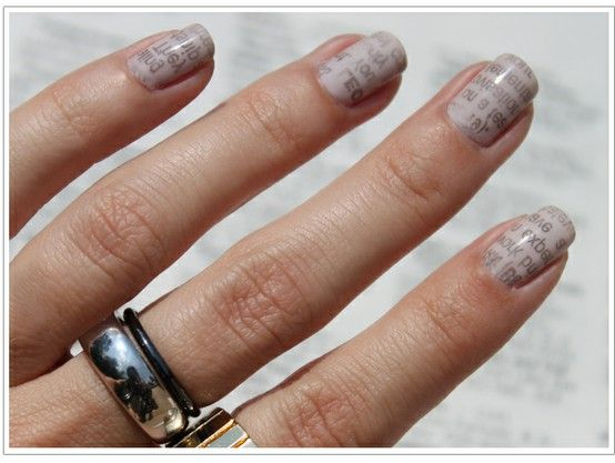 A DIY manicure must-try: newspaper nails!