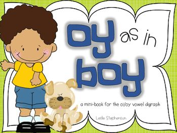 Mini book with oi / oy words in sentences - mid to late first grade ...