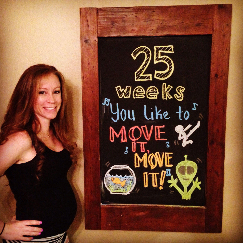 25 weeks Pregnancy chalkboard week by week Pinterest