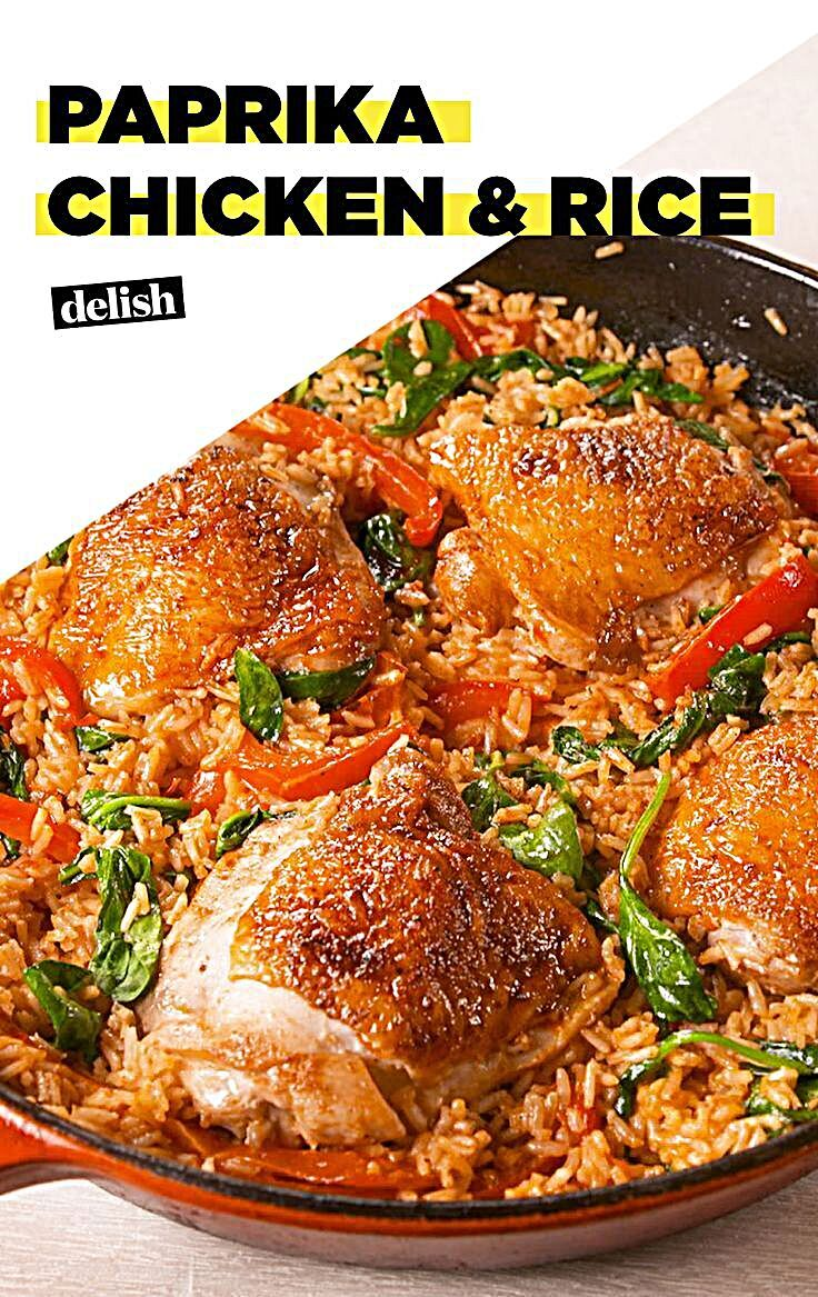 Paprika Chicken  Rice This one pot dish from will solve all of your dinner problems Paprika Chicken  Rice This super creamy Paprika Chicken  Rice is serious weeknight win...