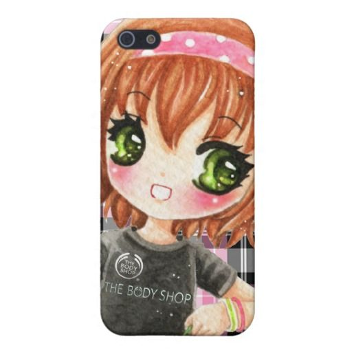 Cute iPhone Cases for Girls   Cute smiling girl in black tshirt case for iPhone 5