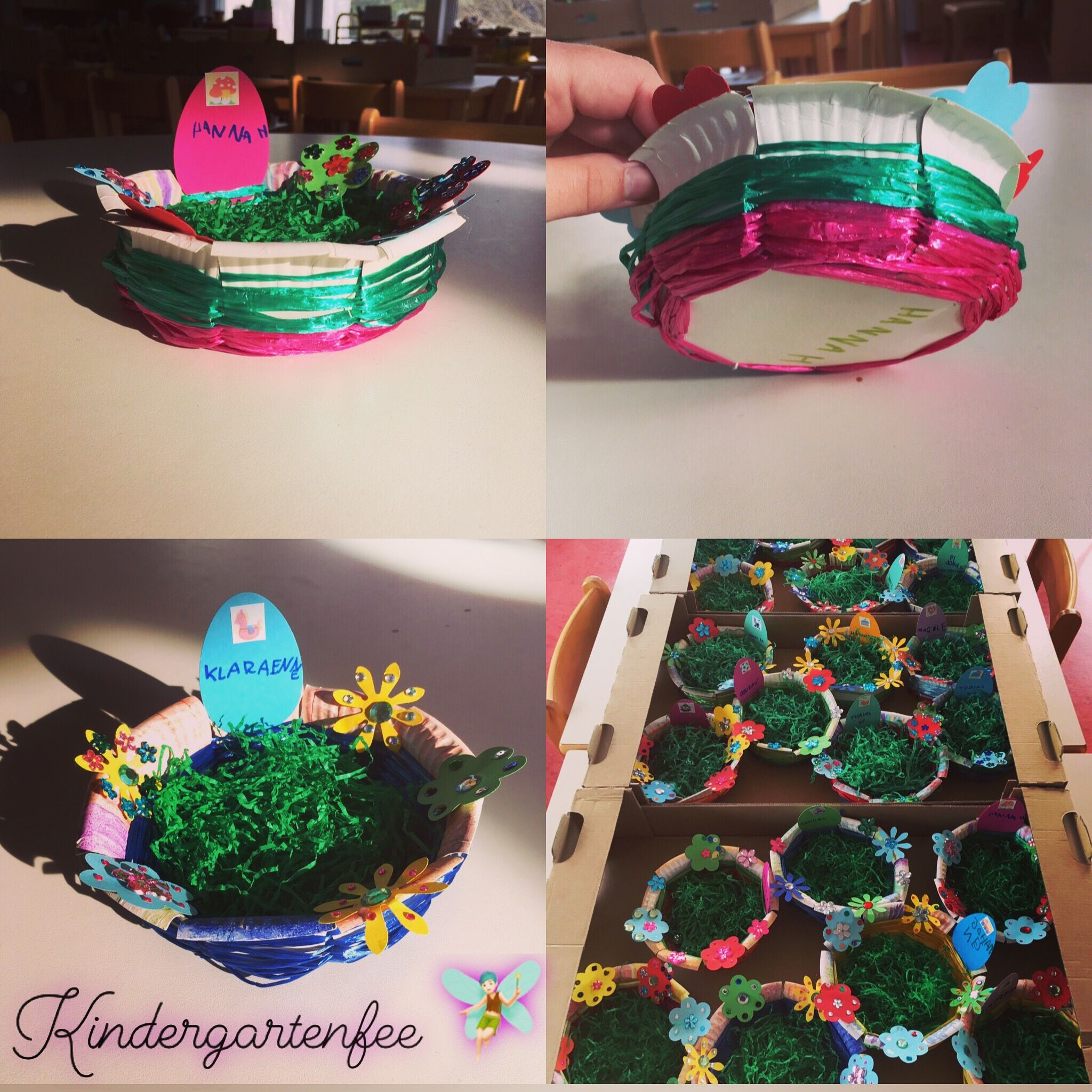 Osternest Basteln Kindergarten Kindergartenfee Osternest