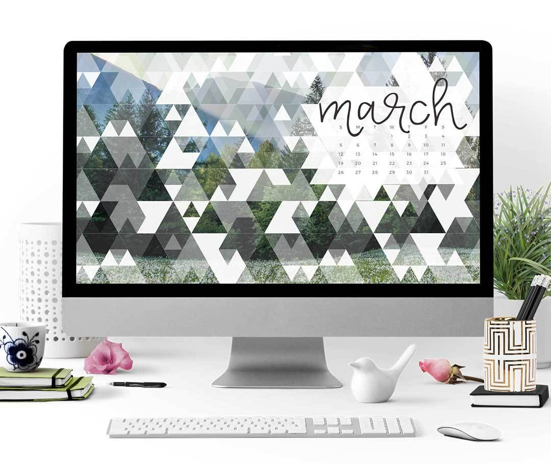 Spring Is Coming So Cover Your Devices With Green! Enjoy This Free March  2017 Calendar