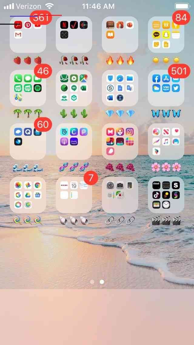 a cute way to organize your phone! aesthetic in 2020