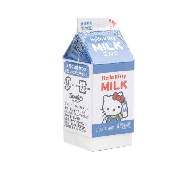 Hello Kitty Eraser Milk Carton Hello Kitty Cute Icons Png Icons