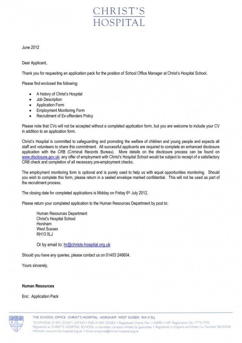 Merveilleux Cover Letter For Office Manager At Hospital