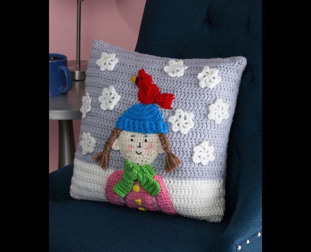 Kissen h kelkissen winter ein designerst ck von for Decken streichen leicht gemacht