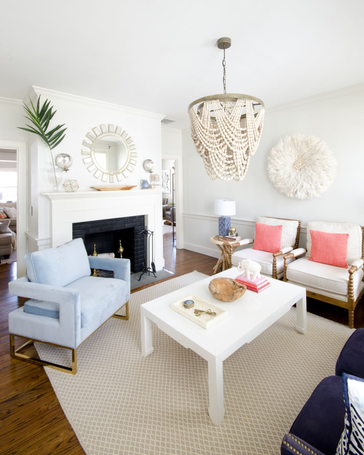 Beaded Pendant Light in a Classic / Boho Living Room | Pendant ...