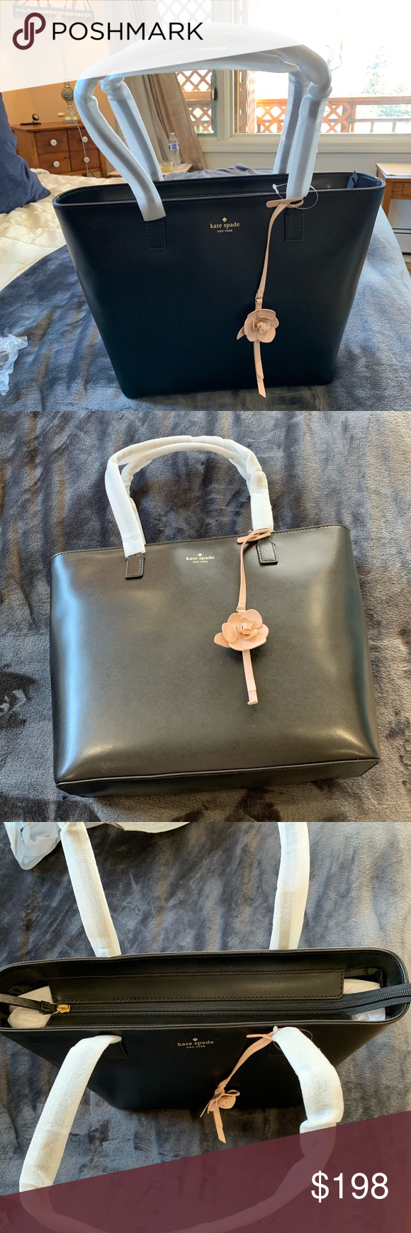 ef4fb4969 Kate Spade - Karla flower Dangle, felicity street Kate Spade ♤ Karla flower  dangle, felicity street tote Brand new with Tags 💯 Authentic Gold embossed  ...