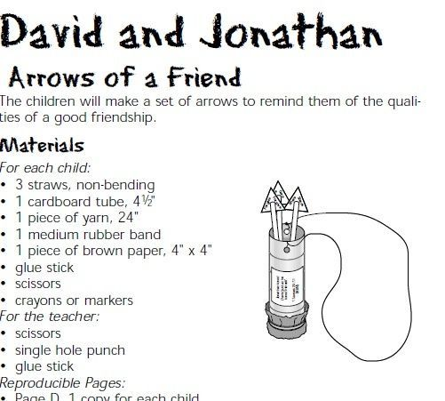 Image Result For David And Jonathan Friendship Craft