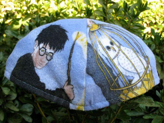 with Harry Potter Yarmulke 2 Hand-painted Kippah