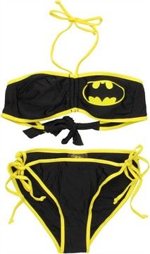 e5937e097d8d9 Batman Logo Bandeau String Bikini Swimsuit | Lingerie/Swimsuits ...