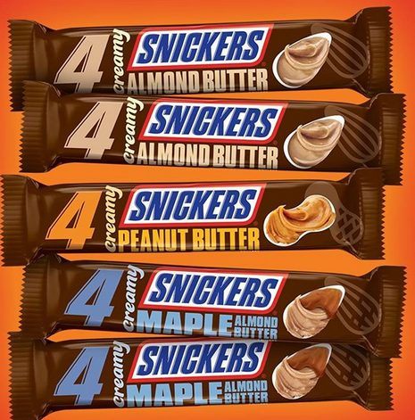 New Creamy Snickers Bars Are Coming Soon These New Bars Replace The Classic Crunch With 3 Varieties Of Creamy Nut B Snickers Bar Almond Butter Snickers Almond