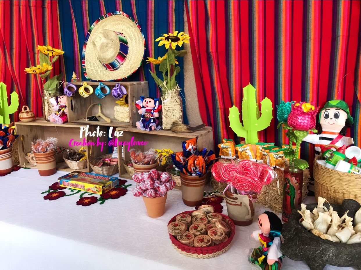 Mexican Candy Table Mexican Theme Party Fiesta Mexicana Dulceria Fiestatheme Mexicantheme Mexican Party Theme Mexican Birthday Parties Fiesta Theme Party