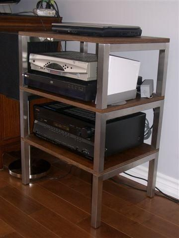 Audio rack with grundtal legs on furniture i can try to make - Meuble audio ikea ...