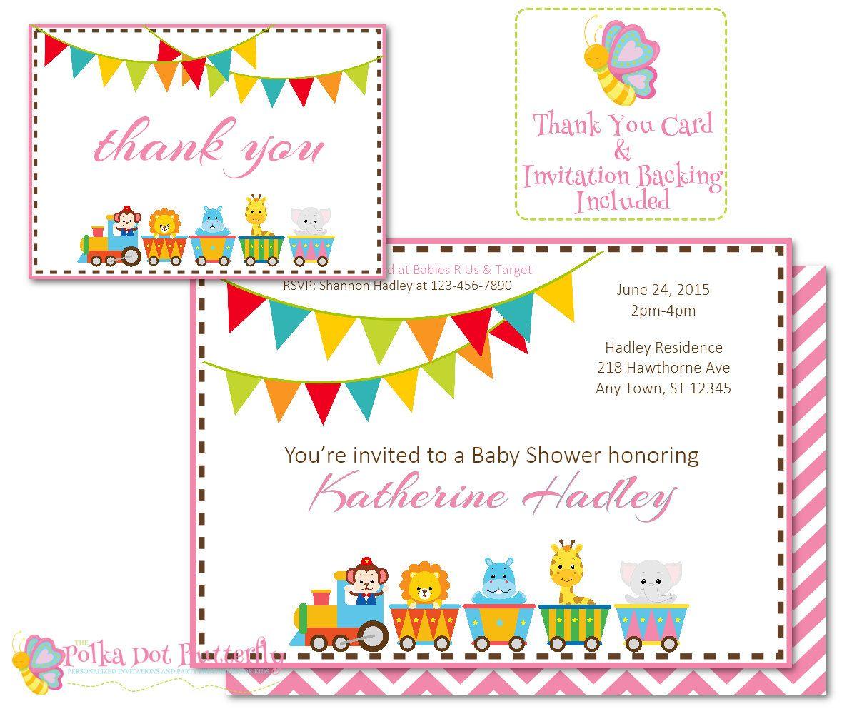 Circus Baby Shower Invitation, Circus Invitation, Circus Animal Baby ...