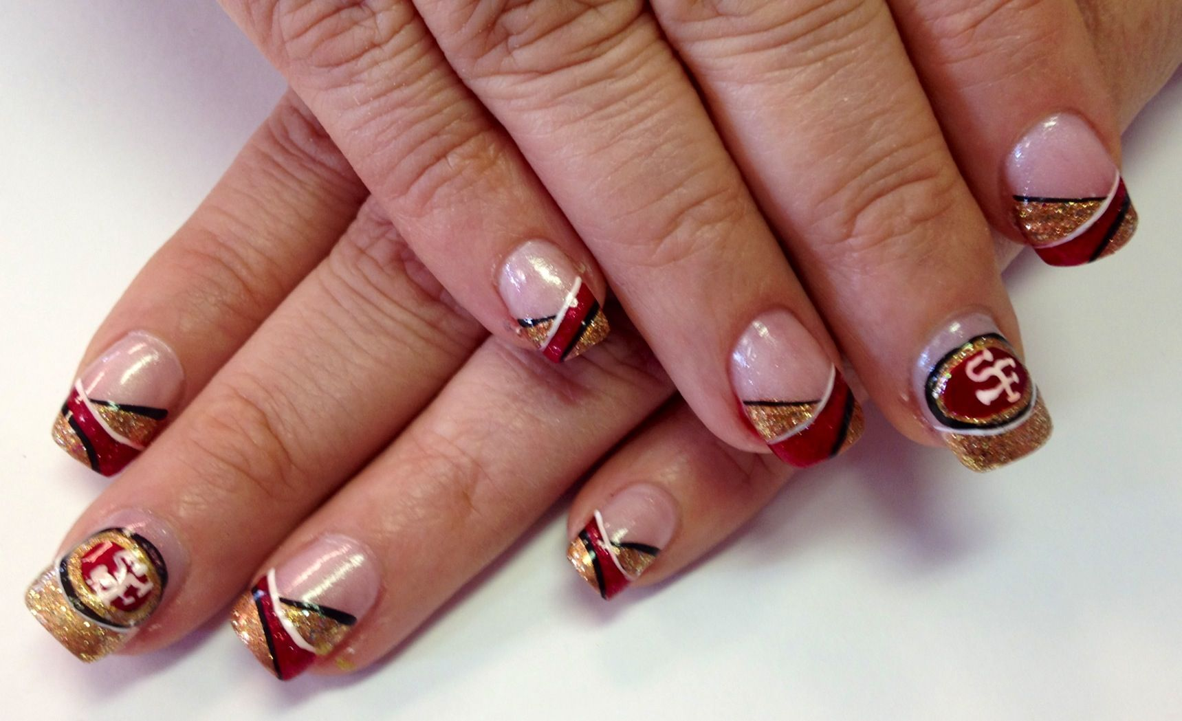 Pin by Jeannie Staiger-Jackson on Nails | Pinterest | 49ers nails ...