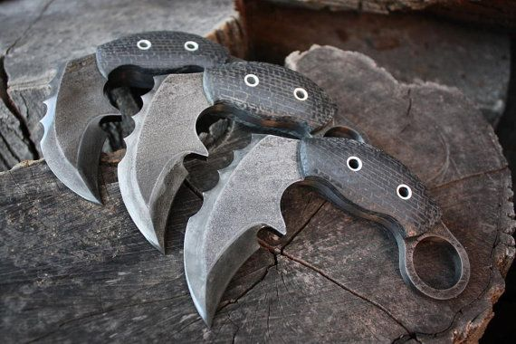 "Handcrafted FOF ""Mantis"", survival, defense or tactical karambit blade $408.61"