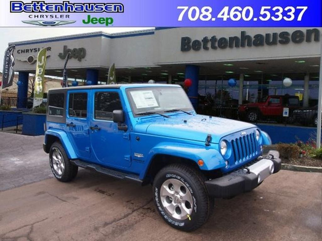 New 2015 Jeep Wrangler Unlimited Unlimited Sahara in Hydro Blue for