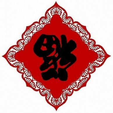Chinese Character Fook Is Invertedly Hung Or Pasted As A