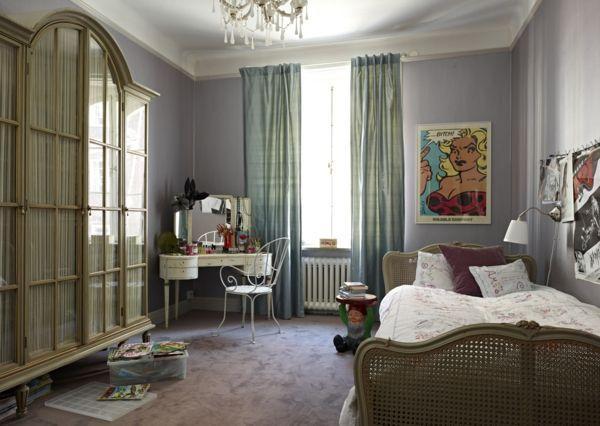 Muster Schlafzimmer ~ Farbgestaltung tangerine trandfarbe muster schlafzimmer ideen