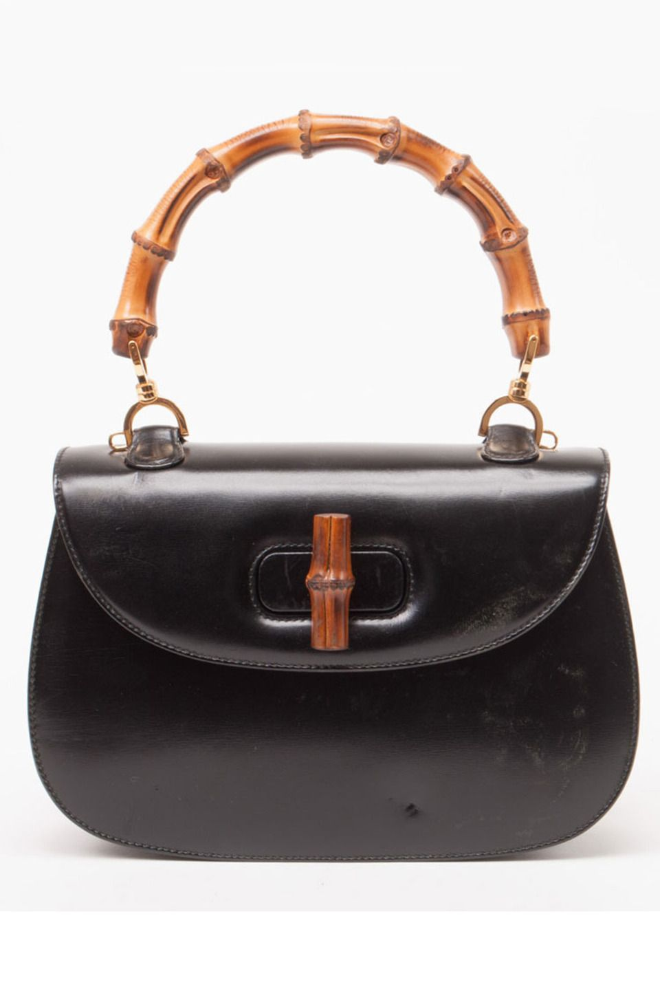 6376e1fe5f6c Gucci Kelly Bag With A Compact Mirror In Black. | Handbag Heaven ...