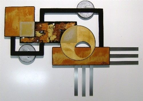 Stylish Geometric Abstract Sculpture Contemporary Modern Wall Decor