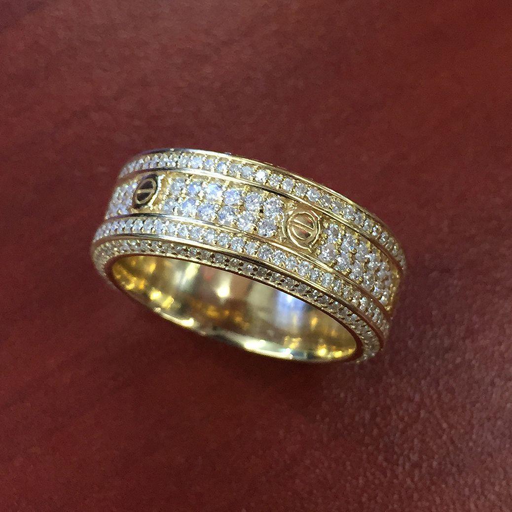 14k Yellow Gold Diamond Cartier Cartier love ring