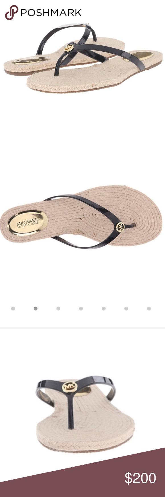 31e1f4bf1 Micheal Kors  hazel  espadrille flat thong sandal