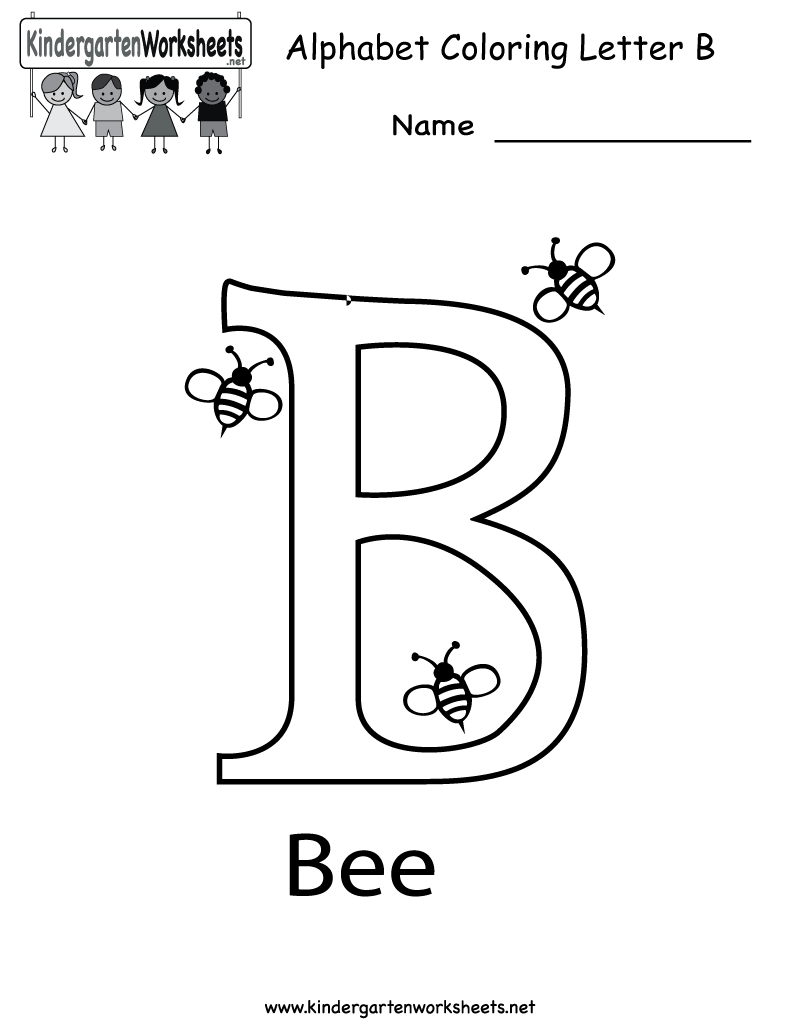 worksheet Letter B Worksheets For Preschool kindergarten letter b coloring worksheet printable printable