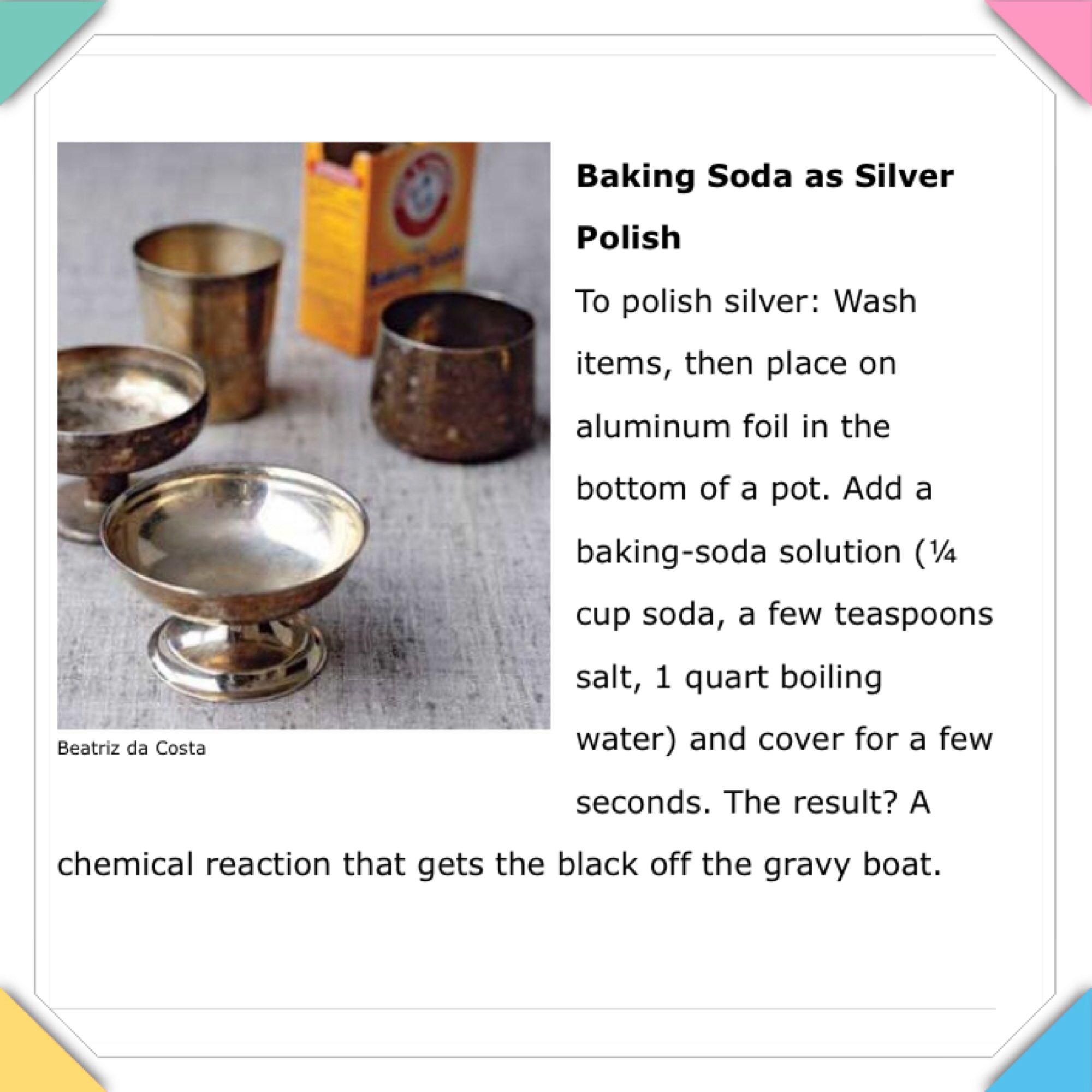 Shining that silver Baking soda solutions