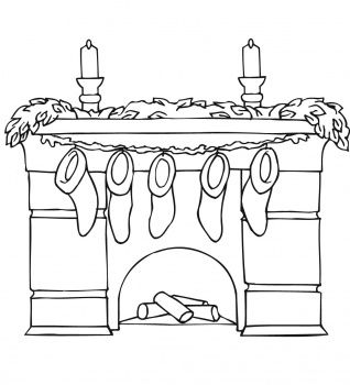 Fireplace With Mantel Holding Christmas Stockings Coloring Page Free Printable Coloring Pages Christmas Coloring Pages Coloring Pages Christmas Colors