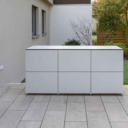 Wetterfestes Design Gartenhaus, Gartenschrank