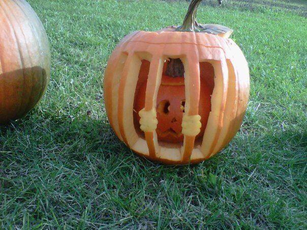 Jailbird pumpkin! So easy to make and unique!