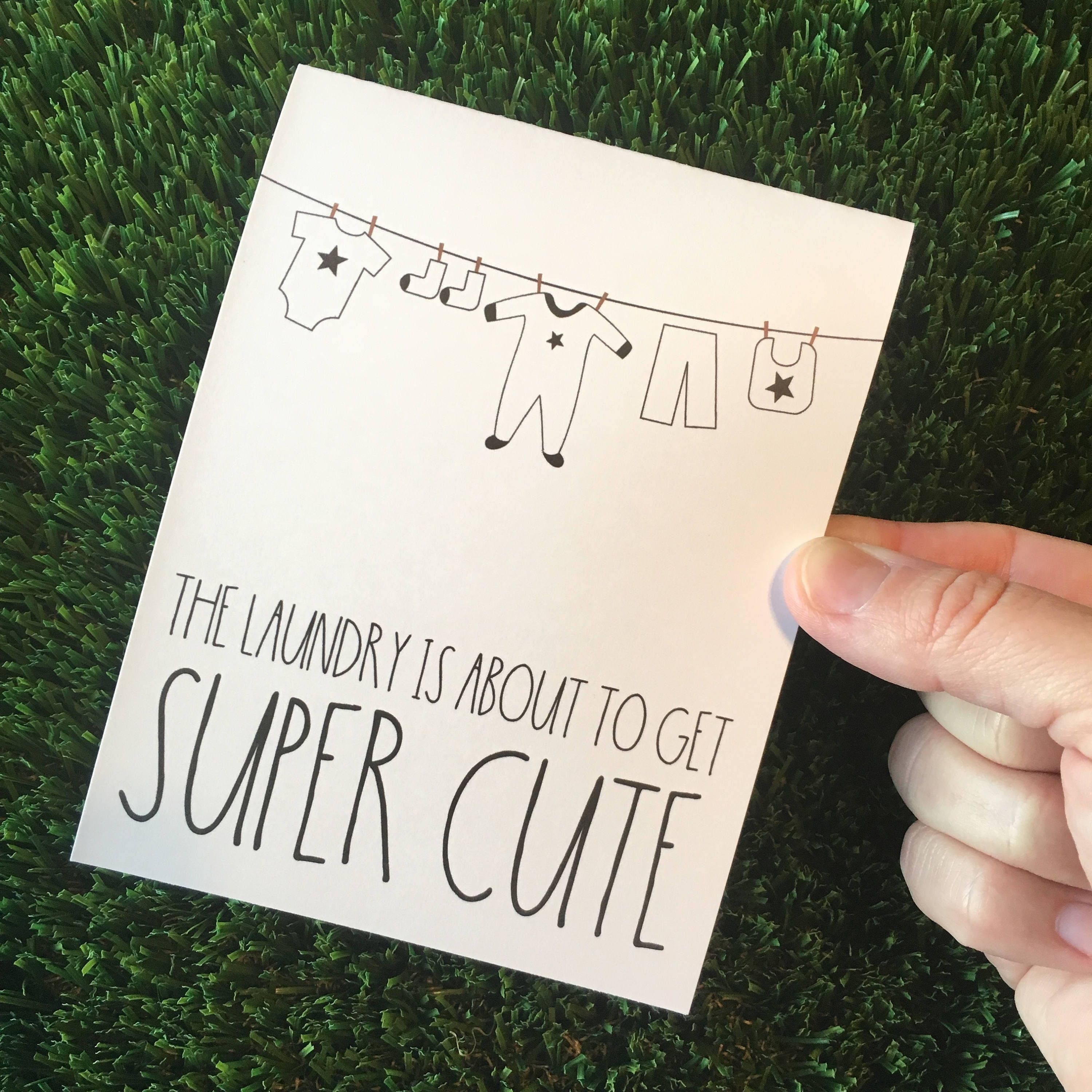 Cute Baby Shower Card Gender Neutral Baby Card Card For Baby