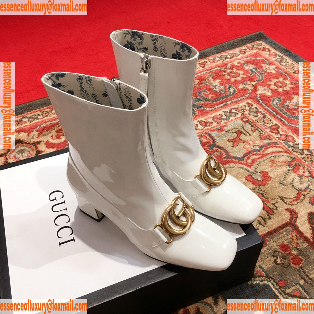 d8a13495e Gucci Double G Patent Leather Ankle Boot Gucci Luxury Shoes 35 To 40  A151PP530 AA67855